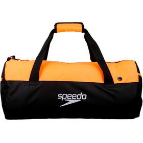speedo Duffel Bag 30l Unisex, black/fluo orange